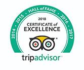 Certificado de Excelencia de TripAdvisor del Salón de la fama