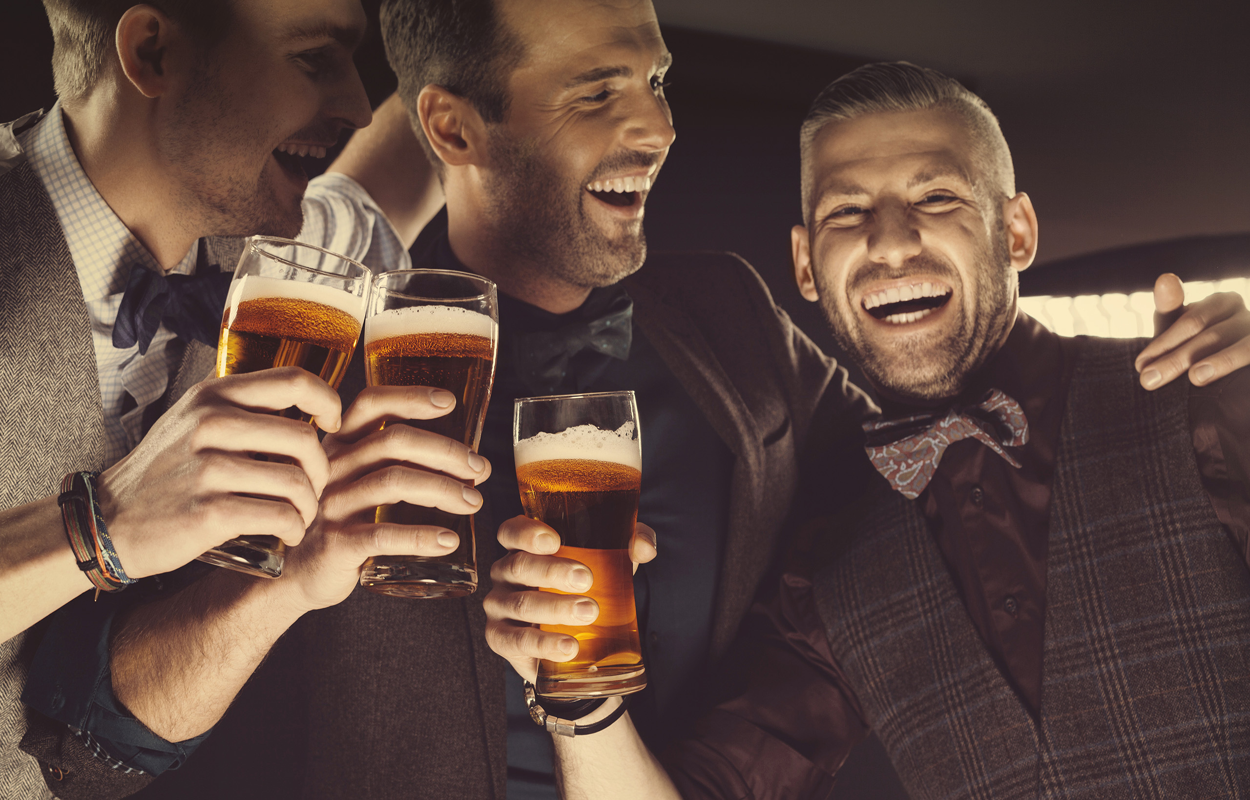 Guys Drinking together.