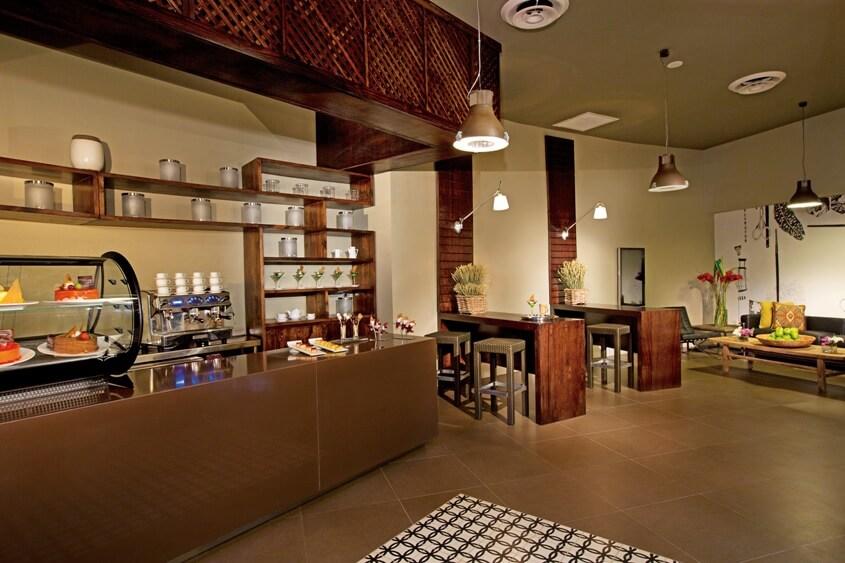 Café premium y bocadillos