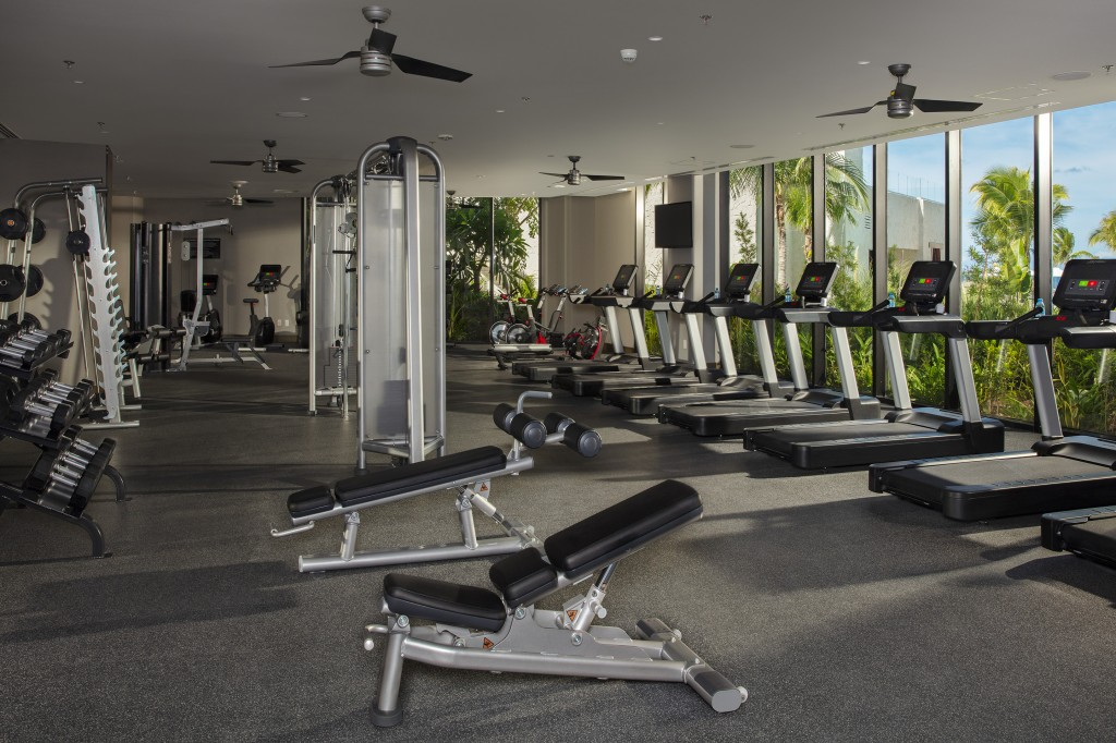 Fitness center with weight machines and cardio conditioning equipment