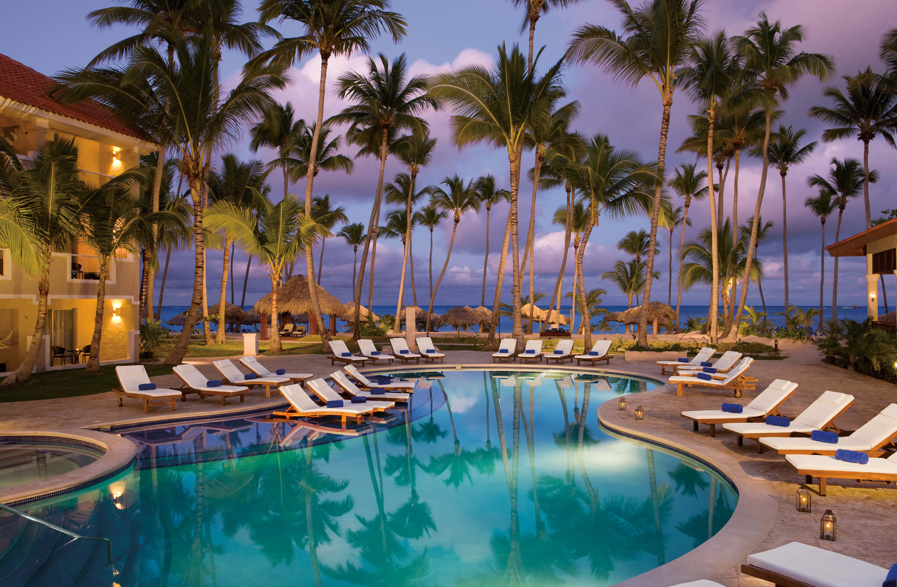 Dreams Palm Beach Punta Cana Palm Tree Lined Pool