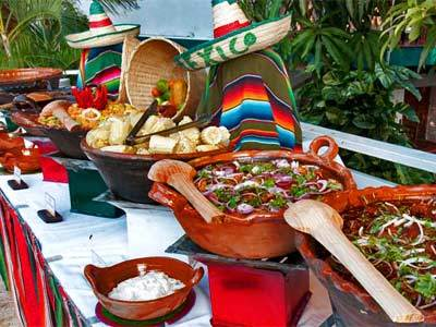 Mexican Dinner at the Pool