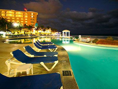Pool - Nighttime View