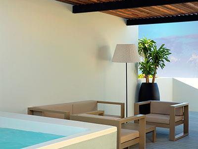 Suite Finest Club de Dos Pisos con Terraza Panorámica