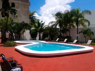 Hotel parador hotel en canc n centro ciudad quintana roo for Paradores con piscina climatizada