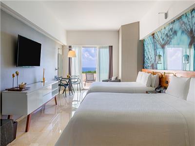 Premium Ocean Front, 2 Double Beds with Terrace