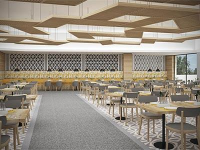 Restaurante World Café Dreams Playa Mujeres Golf and Spa Resort