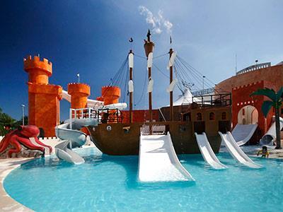 Aquapark - Castillo y Barco Pirata