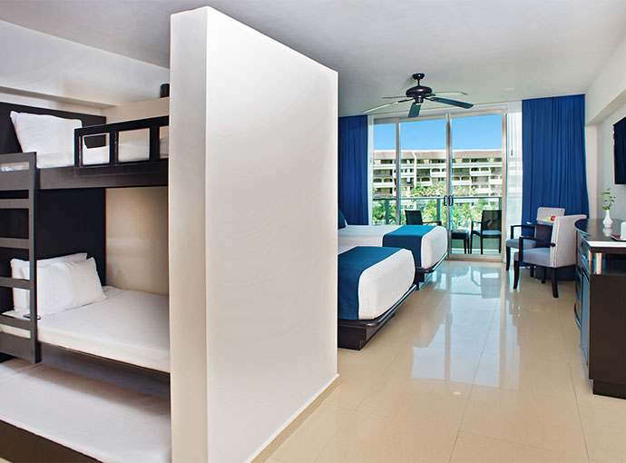 Family Ocean View Two Double Beds