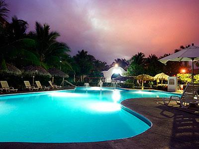 Beach Club - Pool View at Night