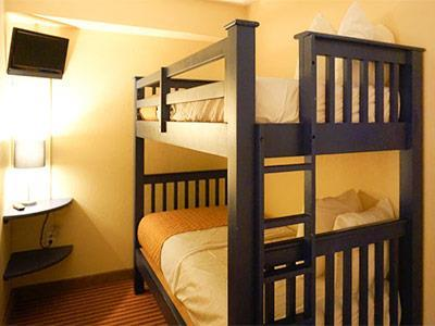 Two Queen Beds with Bunk Bed