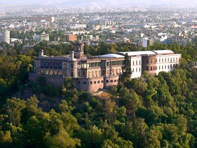 Panoramic View of Chapultepec Castle