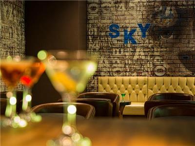 Sky blue bar