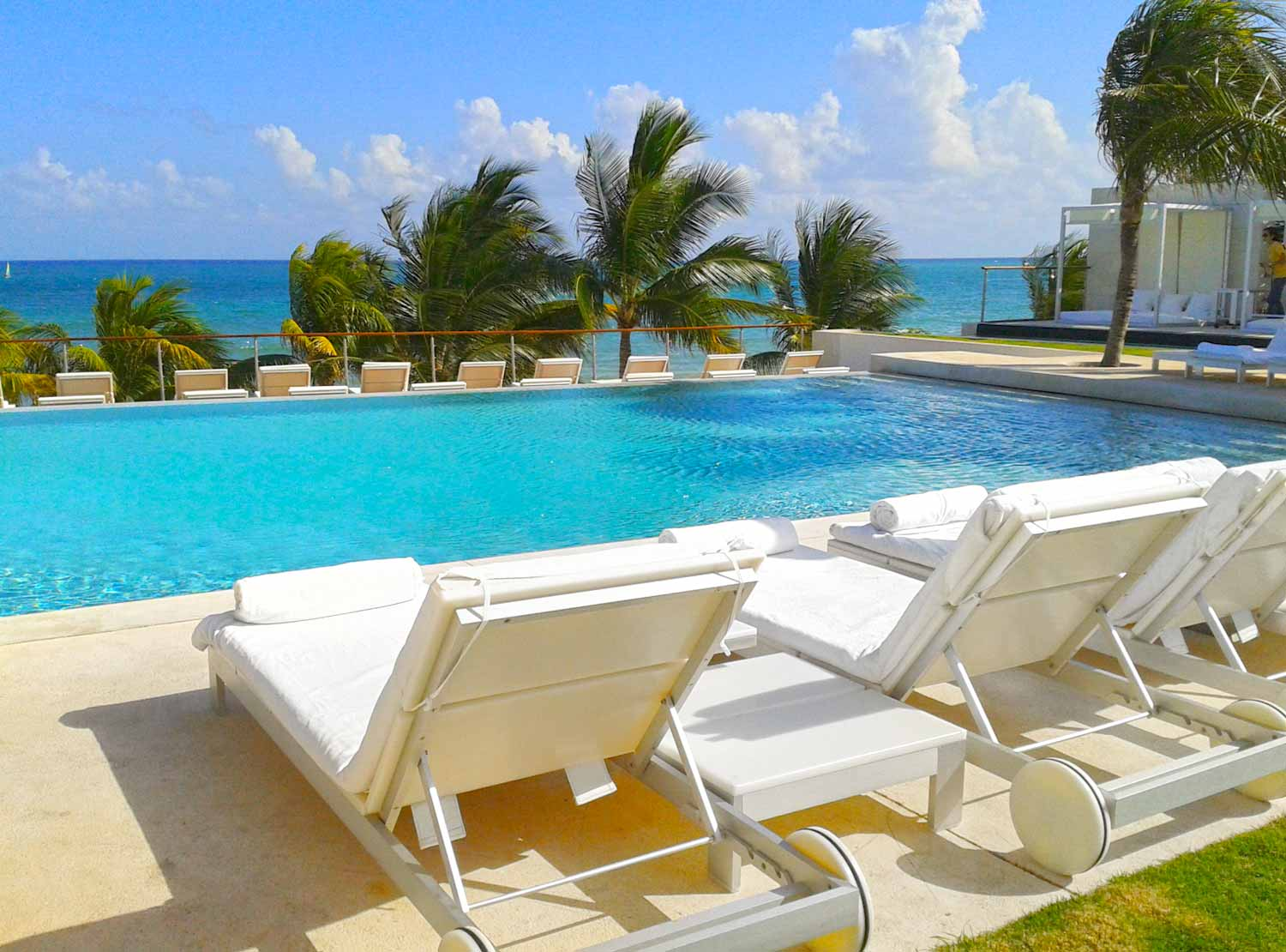Loungers in Pool
