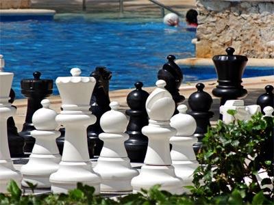 Fotograf as del hotel dreams puerto aventuras for Ajedrez gigante jardin