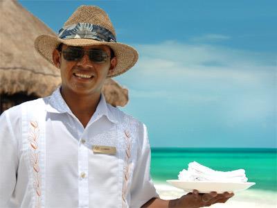 Servicio en la playa