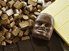 En los chocolates rusos de alimentos