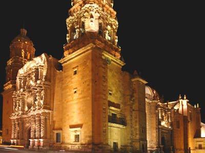 Vista a la Catedral de Zacatecas