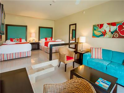 Junior Suite Vista Tropical con Dos Camas Dobles